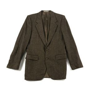 Yves Saint Laurent Vintage Men's Brown Wool Blazer
